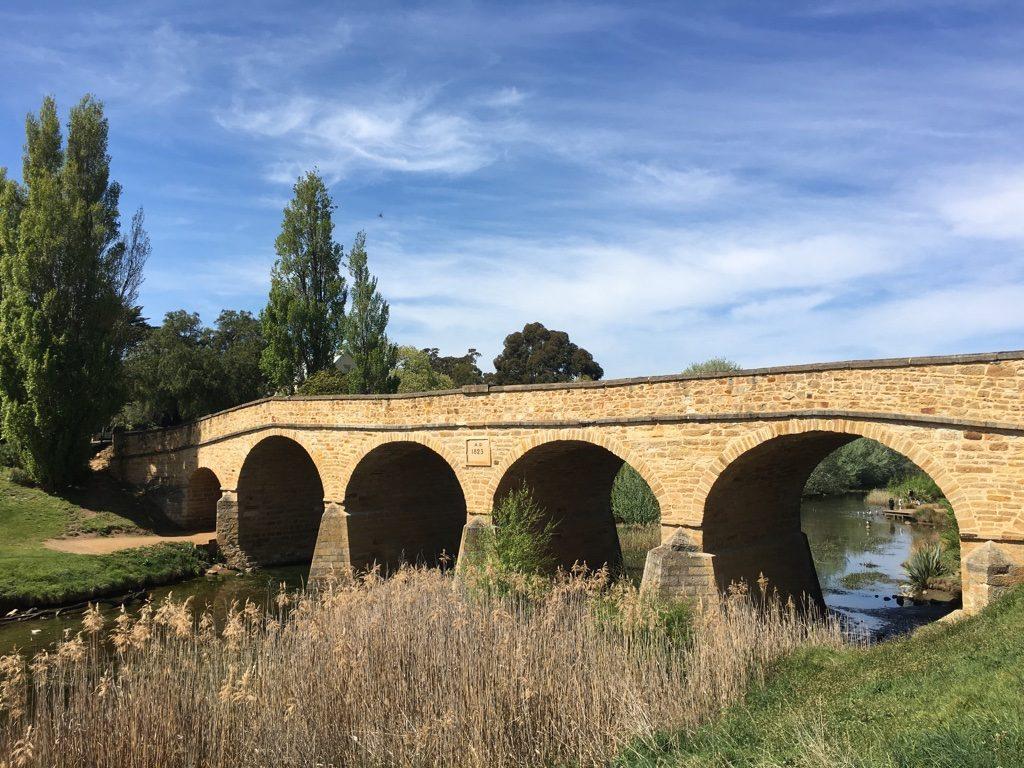 Mit Camper in Tasmanien - Brücke von Richmond
