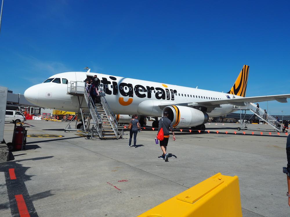 Mit Tigerair nach Tasmanien